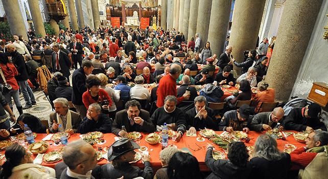 A Natale Tavola Imbandita Per 200mila Poveri San Francesco